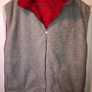 Patagonia REVERSIBLE Vest Size L POCKETS ON BOTH